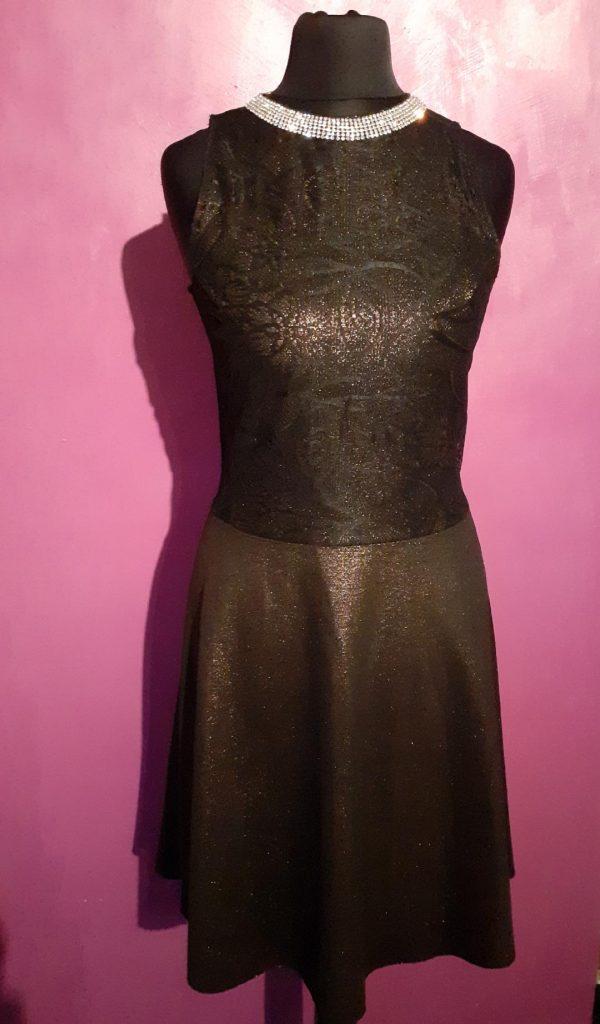 Bronze ponte dress front- jenny dixon- jennydixoncouture.com