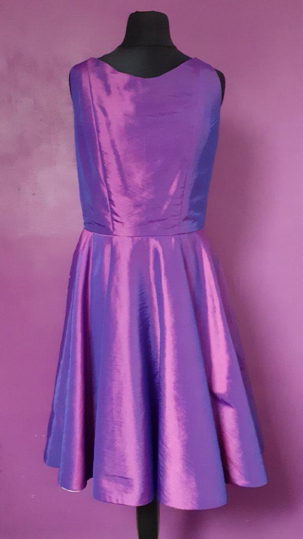 Purple taffeta back dress- jenny dixon- jennydixoncouture.com