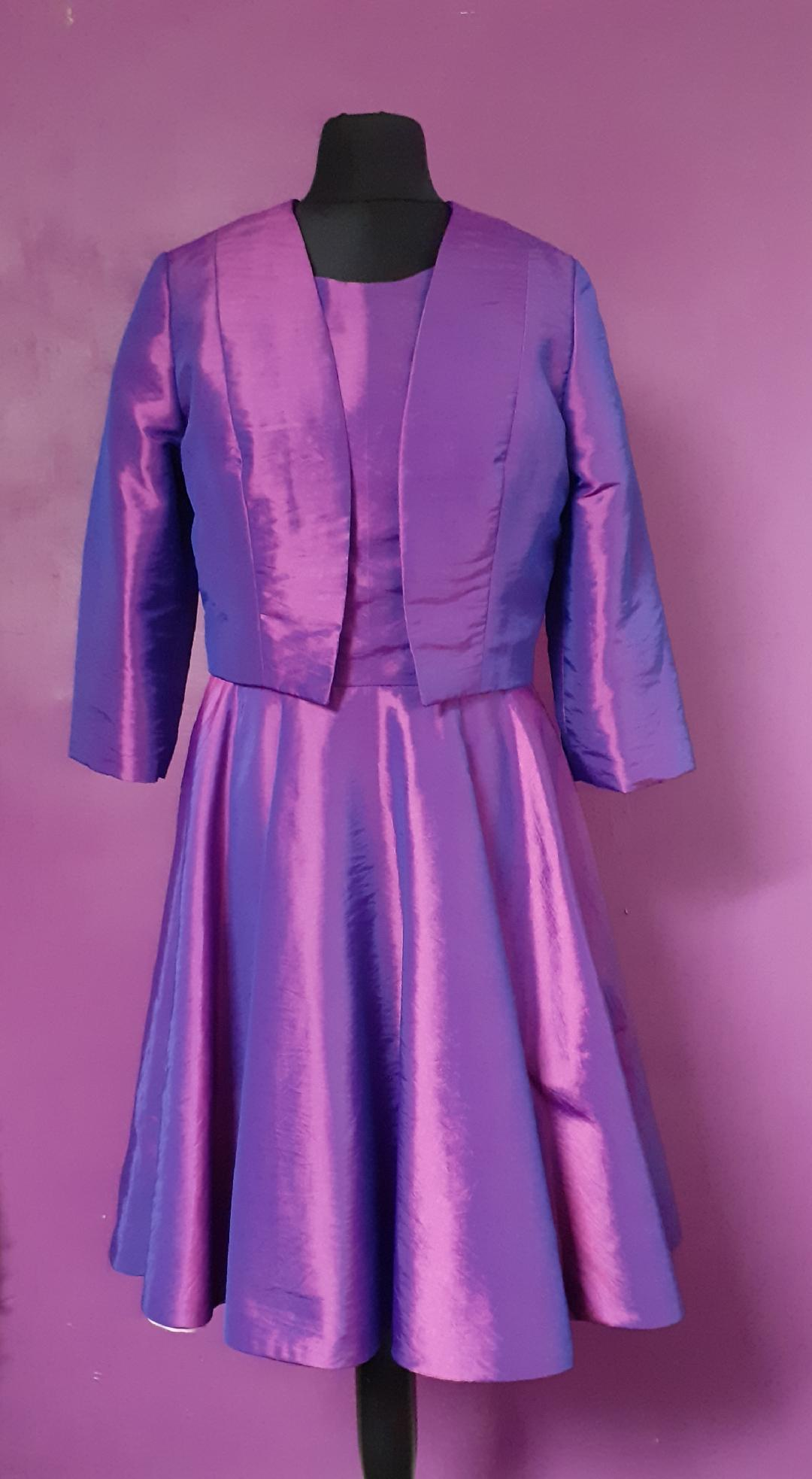 two tone pink and purple taffeta dress- jenny dixon couture-jennydixoncouture.com