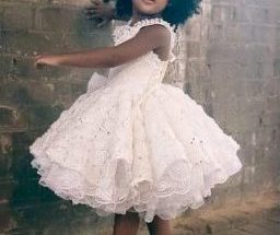 White flower girl dress - jenny dixon - jennydixoncouture.com